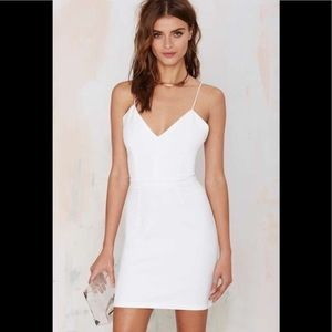 New with tags! Glamorous white cocktail dress!